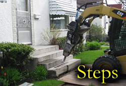 Ren Demolition takes care of your Concrete Step removal and demolition